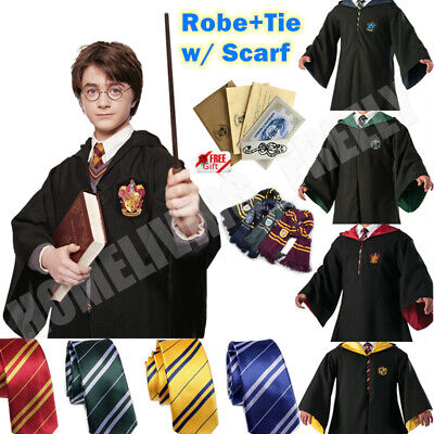$ CDN34.38 • Buy Robe+Tie+Scarf Harry Potter Costume Gryffindor Halloween Cosplay Party Xmas Kids