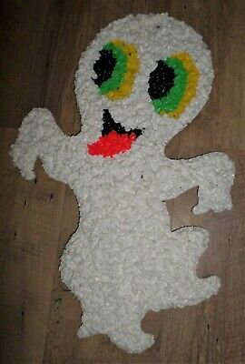 $ CDN19.99 • Buy VIntage Melted Plastic Popcorn Ghost Halloween Wall Hanging Decor 19  Tall NICE