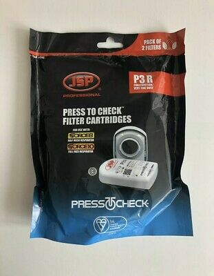 JSP Professional Press To Check P3R Replacement Filter X2 Face Mask Protection • 12£