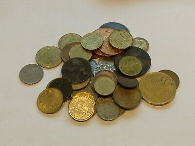 Job Lot Of Old Mixed Foreign World Coins • 0.99£