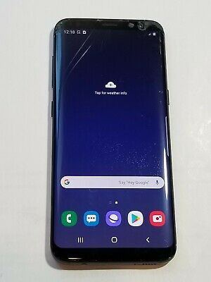 $ CDN134.08 • Buy Samsung Galaxy S8 -G950U1- 64GB -Black - GSM Unlocked -ScrnCrck-Sp250