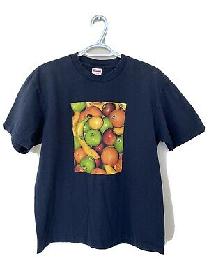 $ CDN18 • Buy Pre-owned Supreme Fruit Tee Navy Size Medium 100% Authentic