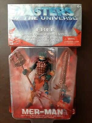 $40 • Buy He-Man Masters Of The Universe Mer-Man MOTU 2001 Figure 54917 With VHS New
