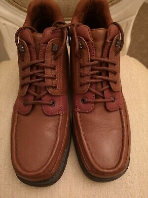 Rockport Xcs Brown Leather Boots Size 8 Bnwob • 24.95£