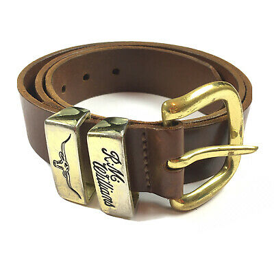 AU69.95 • Buy RM Williams Genuine Cowhide Leather Belt Brown & Gold Made In Australia 36 / 91