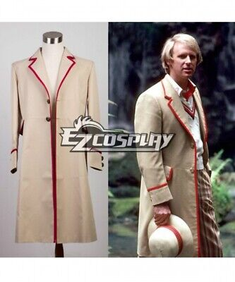 Who Is Doctor Fifth 5th Dr Coat Cosplay Costume   0066 • 42.60£