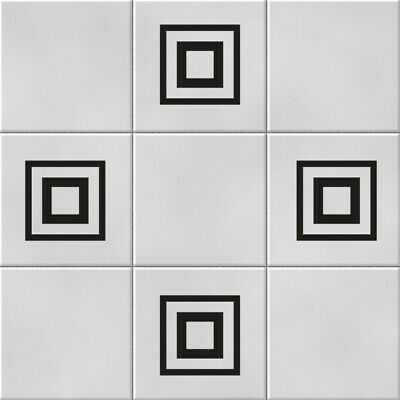 Squares Vinyl Wall Tile Stickers Decals Kitchen Bathroom Home Decor • 2.99£