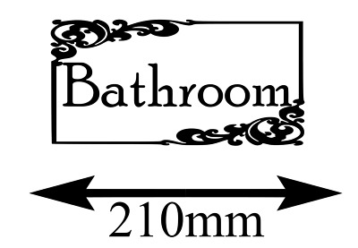 BATHROOM DOOR  Wall  Vinyl StickerDecals Decoration Sign Art** • 1.98£