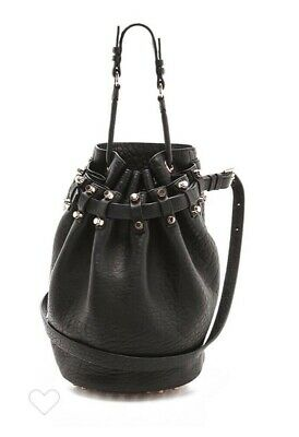 AU749 • Buy **ALEXANDER WANG LARGE DIEGO BUCKET BAG,black With Rose Gold Studs,new With Tags