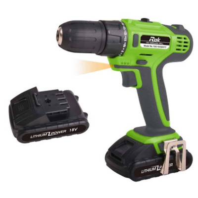 AU149.91 • Buy Cordless Drill 18V 2 Pieces 2 0Ah Batteries Portable Belt Buckle 2 Speed Gearbox