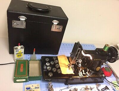 $565 • Buy 1947 Singer FEATHERWEIGHT Sewing Machine 221 Case - Extras Perfect Condition Vtg