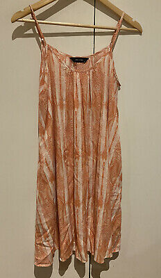 AU35 • Buy DECJUBA S Coral White Abstract Print Trapeze Summer Party Dress With Pockets