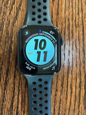 $ CDN118.93 • Buy Apple Watch Series 4 Nike+ 44 Mm Space Gray Aluminum Case With AppleCare+