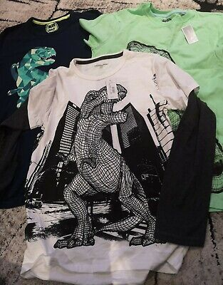 Bluezoo Boys Tops Tshirt Bundle, 3 X Items 12-13 Yrs Dinosaur Design Rrp £39  • 15£