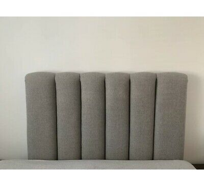 Headboard, Luxury Fabric, Hotel Design, Grey, 150cm Wide, Used • 30£