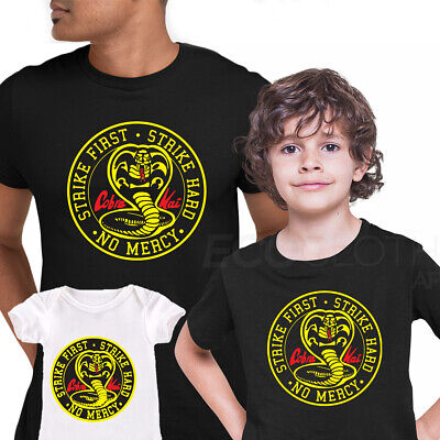 Cobra Kai T-shirt Karate Kid Movie Kung Fu Martial Arts Retro Gift Top ALL SIZES • 10.99£