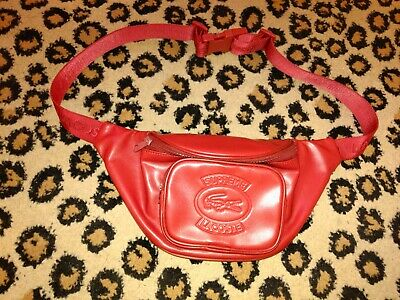 $ CDN268.09 • Buy Supreme SS18 Red Lacoste Waist Bag Faux Leather CONFIRMED Fanny Pack Authentic