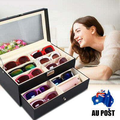 AU34.69 • Buy AU 12 Slot Eyeglasses Display Box Sunglasses Storage Case Organizer Holder Gift