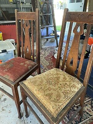 AU2 • Buy Pair Of Lovely Vintage Timber Dining Chairs