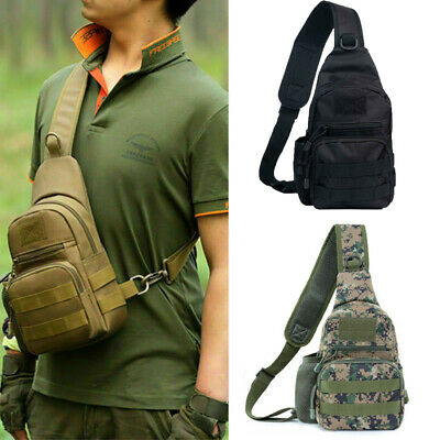 $13.99 • Buy Mens Tactical Sling Bag Military Chest Shoulder Molle Small Daypack Backpack US