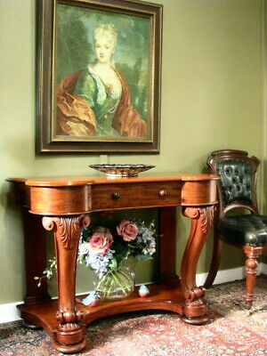 AU950 • Buy ANTIQUE MAHOGANY 1 DRAWER TWO TIER HALL / CONSOLE TABLE / SOFA TABLE  C1880s