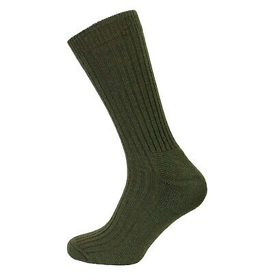 Mens 1 Pair Outdoor Hiking Back-Packing Cushioned Wool Warm Thermal Socks -GREEN • 4.49£