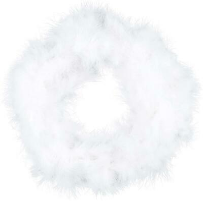6m White Feather Christmas Tree Boa Decor Ribbon Garland Strip Craft Home Xmas   • 5.99£
