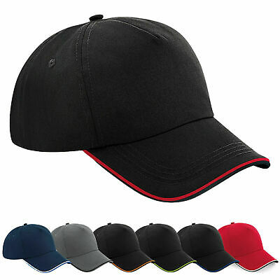 Mens Womens Adjustable Buckle Contrast Curved Peak Baseball Cap Snapback Hat • 4.95£