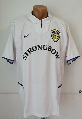 Leeds United 2002/2003 Home Football Shirt Jersey Strongbow Lufc Top Vtg Nike L • 59.99£