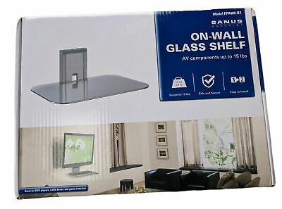 Sanus VuePoint FPA400-B2 On Wall Glass Shelf For AV Boxes, Satellite, DVD Etc • 29.45£
