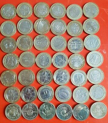 42x ALL DIFFERENT Job Lot Of RARE £2 Coins  Collectable Two Pound Coins Joblot • 190£