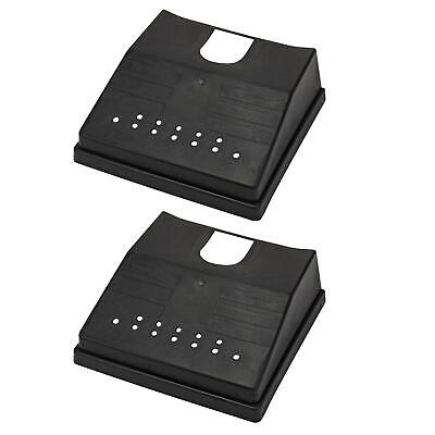 2 X Outdoor Drain Grid Gutter Cover Black Plastic Prevents Blockages To Drains • 6.99£