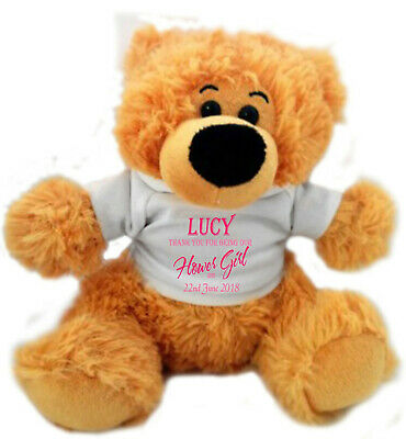 £12.95 • Buy Personalised Teddy Bear Wedding Favour Page Boy / Flower Girl / Bridesmaid GIFT