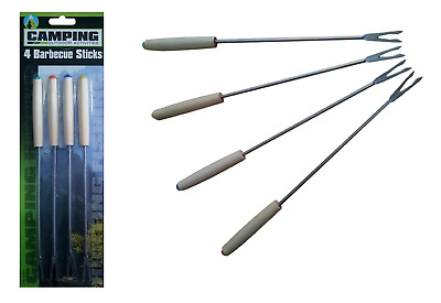 Chrome BBQ Sticks Metal Barbeque Cooking Chicken Fish Veg Kebab Meat Grill Food • 1.89£