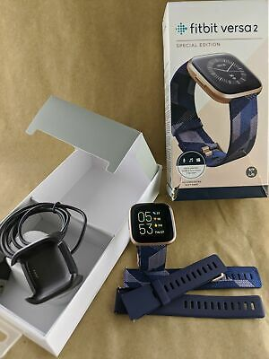 $ CDN212.62 • Buy Fitbit FB507RGN Versa 2 Special Edition Copper Rose - Navy Woven Jacquard Band