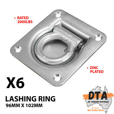 AU25.18 • Buy 6x Heavy Duty Lashing Ring Tie Down Point Anchor Ute Tray Box Trailer Recessed