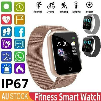 AU22.99 • Buy AU Bluetooth Smart Watch Waterproof Heart Rate Fitness Tracker For Android IOS