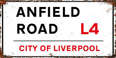 £3.99 • Buy METAL Liverpool FC LFC Anfield Inspired Road RD RETRO GARAGE BAR Man CAVE SIGN