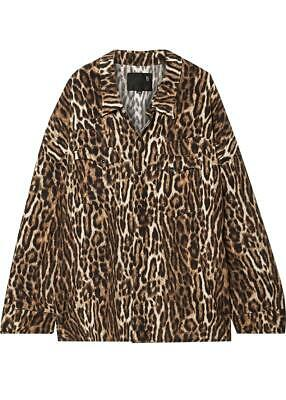 £300 • Buy R13 Oversized Leopard Print Voile Shirt Small