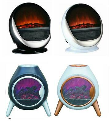Oval Log Flame Effect Electric Fire Fireplace Free Standing Portable 1.5Kw 1.8Kw • 45.99£