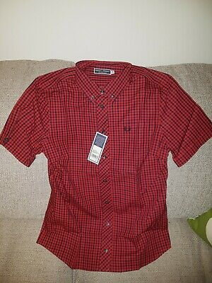 Fred Perry Sportswear Tartan Ladies Shirt Size 10 New Skin Girl Mod Button Down • 67£