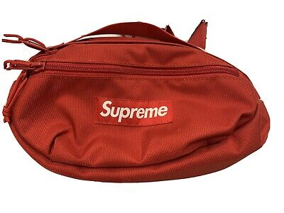 $ CDN119.33 • Buy Authentic Supreme Fanny Pack Strap Waist Bag Red Cordura Brand Fabric SS18