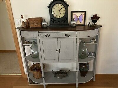 AU245 • Buy Edwardian Sideboard / Cupboard With Shelves