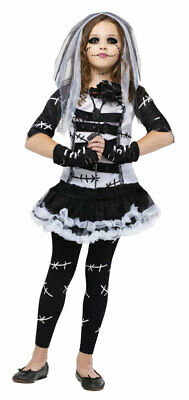 Deluxe Girls Monster Bride Zombie Halloween Fancy Dress Costume Kids Gothic Doll • 22.49£