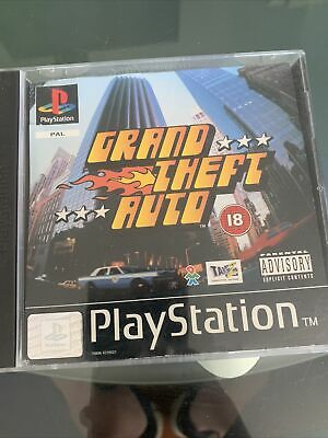Grand Theft Auto (gta) - Sony Playstation Psone Ps1 Game With Maps - • 3.40£