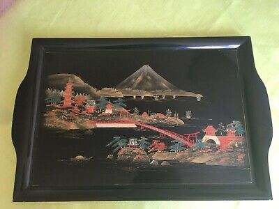 Japanese Lacquered Tray • 35£