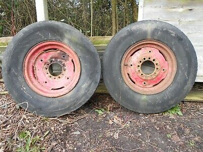 Tractor Front Wheels & Tyres 7.5 R16 International, Massey Ferguson, Fordson • 50£