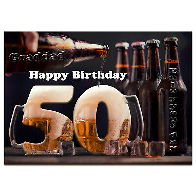 B794; Great Personalised Birthday Card; *ANY Name Age Text*; Enjoy Glass Of Beer • 3.75£