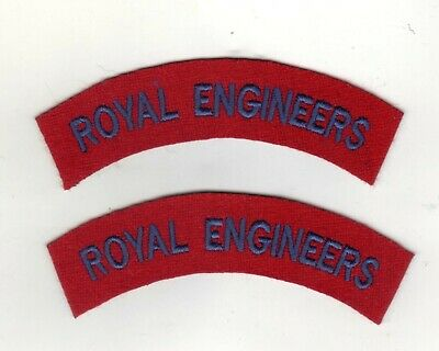 £4.25 • Buy Royal Engineers/british Army World War 2 Type Shoulder Titles Reproductions Pair