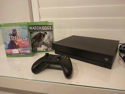 AU455 • Buy Xbox One X 1TB 4K UHD Console With Controller And 2 Games